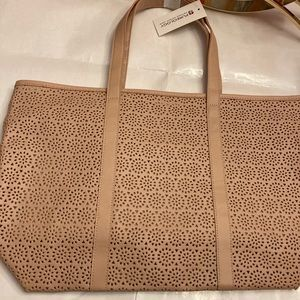 Oversized New taupe tote from Pureology
